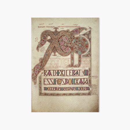 Lindisfarne Gospels Chi Rho Art Board Print