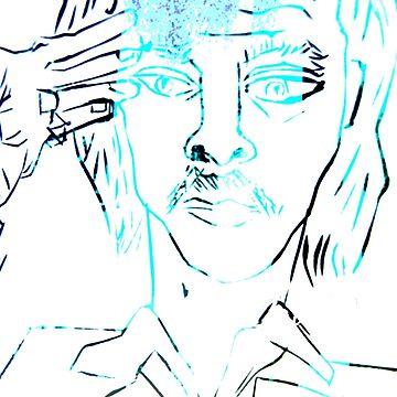 Nick Cave lino cut  by caseytosh