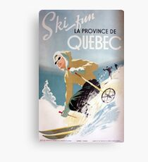 Vintage Ski Poster Canada Canvas Print