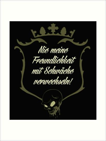 Coole Sprüche / Biker / Statement / Freundlichkeit / Schwäche