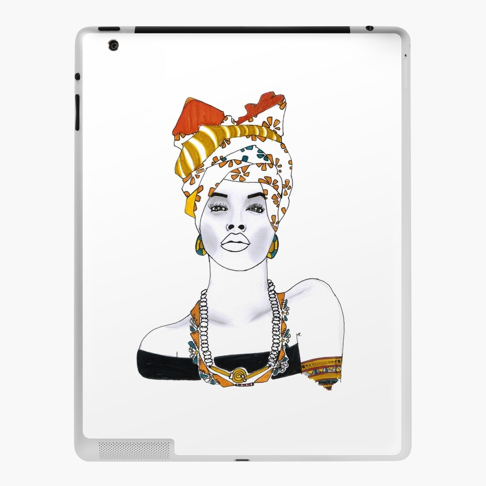 African Woman Art Fashion Design South Africa Ipad Case Skin By Highartdesigns Redbubble