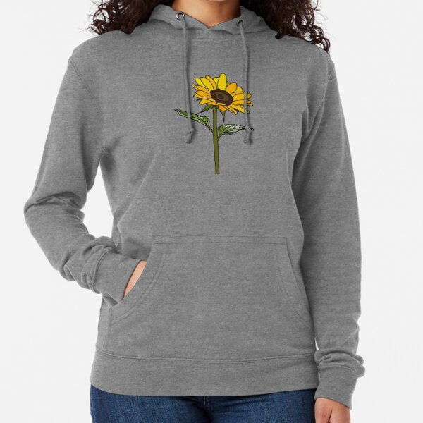 Aesthetic Sunflower  Lightweight Hoodie