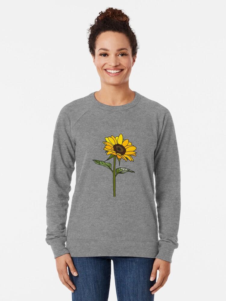 Alternative Ansicht von Ästhetische Sonnenblume Leichtes Sweatshirt