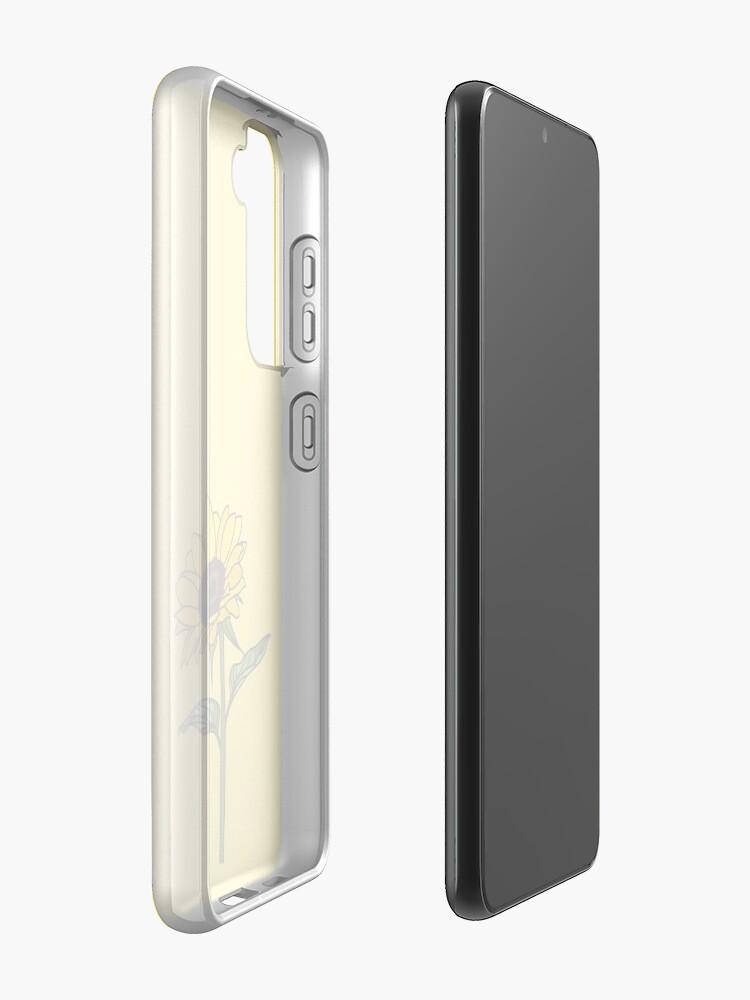 Alternate view of Aesthetic Sunflower  Samsung Galaxy Phone Case