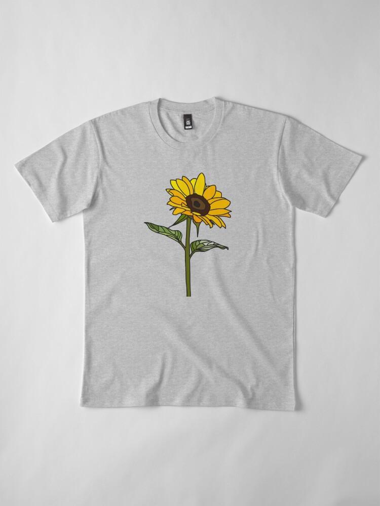 Alternative Ansicht von Ästhetische Sonnenblume Premium T-Shirt