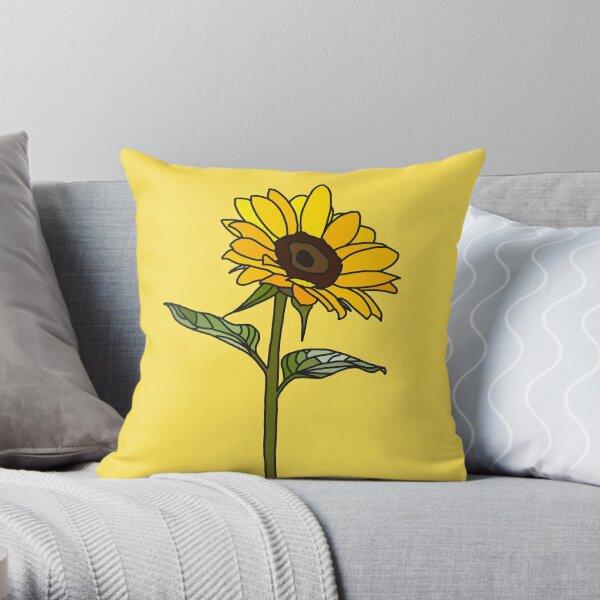 Aesthetic Sunflower  Throw Pillow