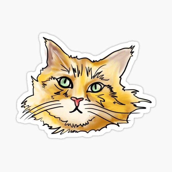 Orange Maine Coon Sticker
