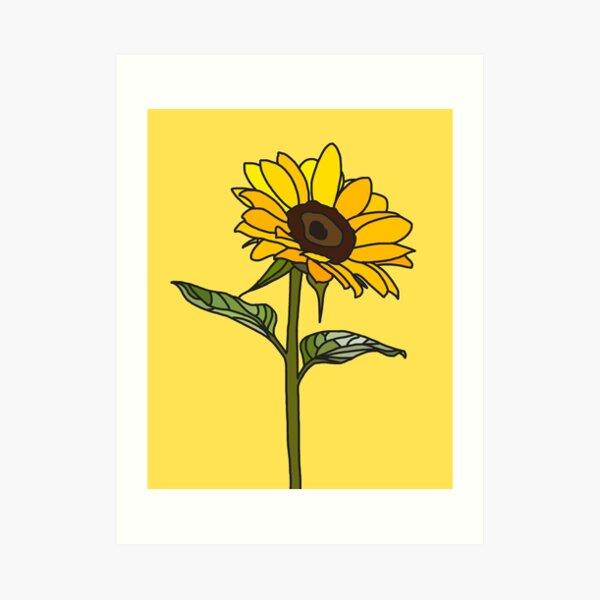Aesthetic Sunflower  Art Print