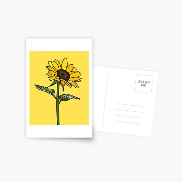 Aesthetic Sunflower  Postcard