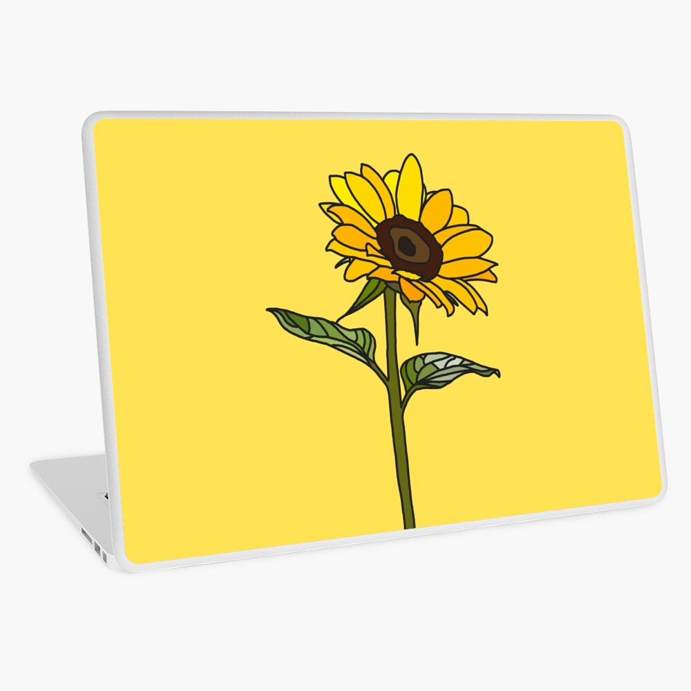 Aesthetic Sunflower  Laptop Skin