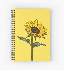 Ästhetische Sonnenblume Spiralblock