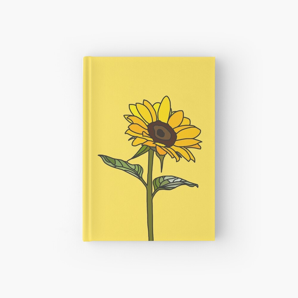 Aesthetic Sunflower  Hardcover Journal