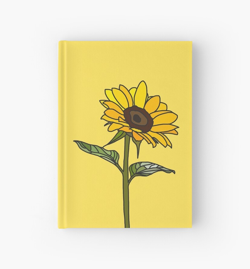 Quot Aesthetic Sunflower Quot Hardcover Journal By Rocket To