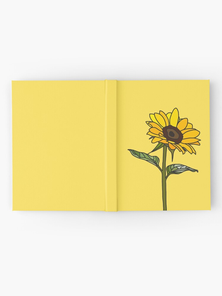Alternate view of Aesthetic Sunflower  Hardcover Journal