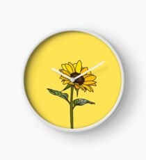 Aesthetic Sunflower  Clock