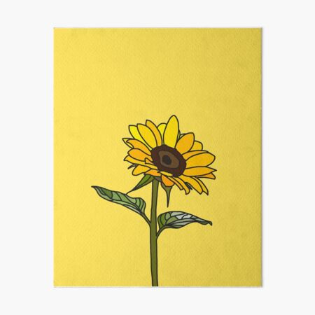 Aesthetic Sunflower  Art Board Print