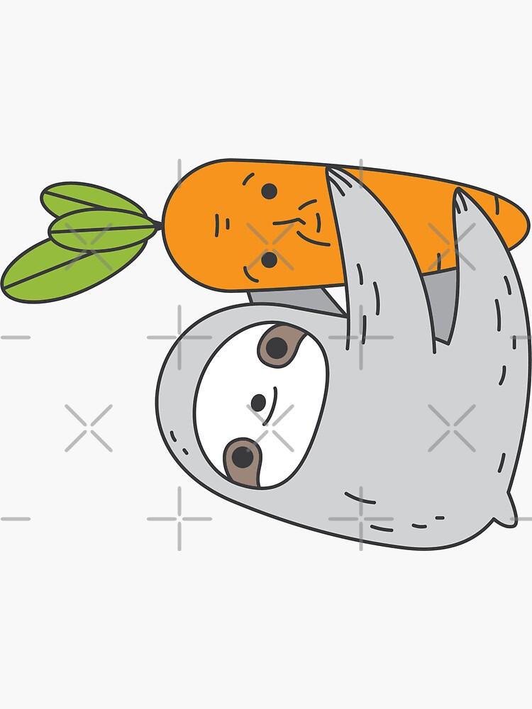 Carrot Sloth by Miri-Noristudio