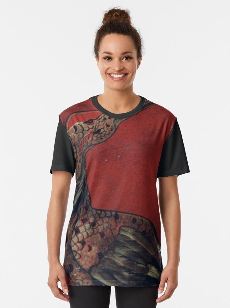 Alternate view of pale color, pale, color,  light, pallid, faint, wan, white Graphic T-Shirt