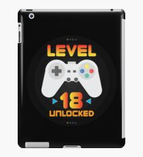 18th Birthday Gift - Level 18 Unlocked Funny Gamer Present iPad Case/Skin