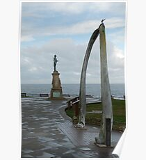 Captain James Cook,  and the whalebone arch. Poster
