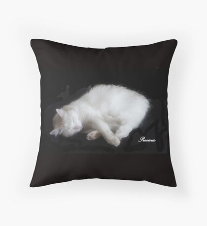 My PRECIOUS is gone, This is The 2nd time and The Coyotes got her, I Don't think she will be back... 7 years later MY BEAUTIFUL RESCUED KITTY f.zn Throw Pillow