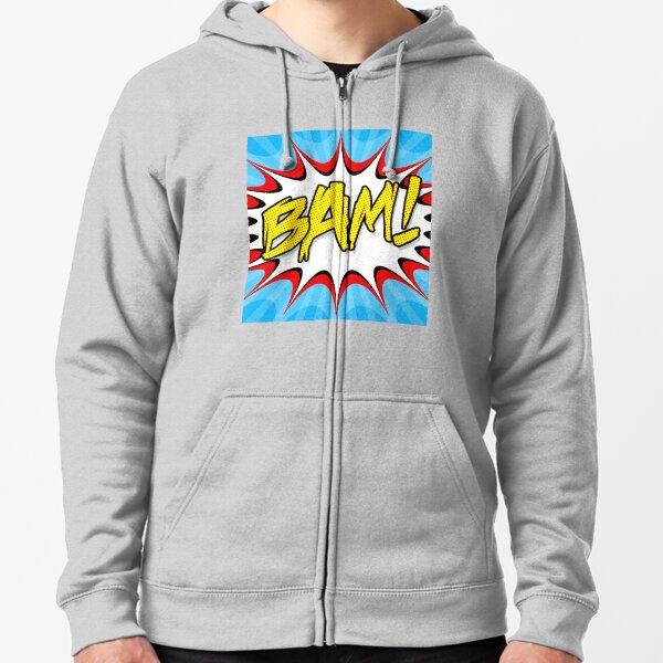 """""""BAM!"""" Pop Art Poster Zipped Hoodie"""