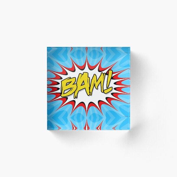 """BAM!"" Pop Art Poster Acrylic Block"