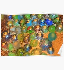 Marbles of Color - Abstract Art of Color Background Poster