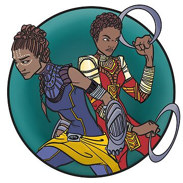 Nakia and Shuri by caitlin2006