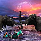 Fighting Elephants Justin Beck Picture 2015091 by Justin Beck