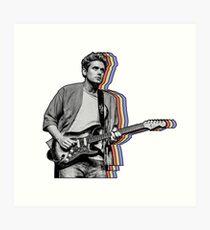 John Mayer Layered Art Print