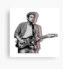 John Mayer Layered Metal Print