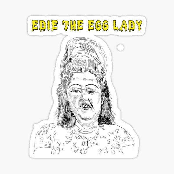 edie the egglady Sticker