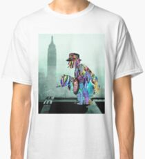 New York Photographer On Unfinished Skyscraper and Skyline Green Classic T-Shirt