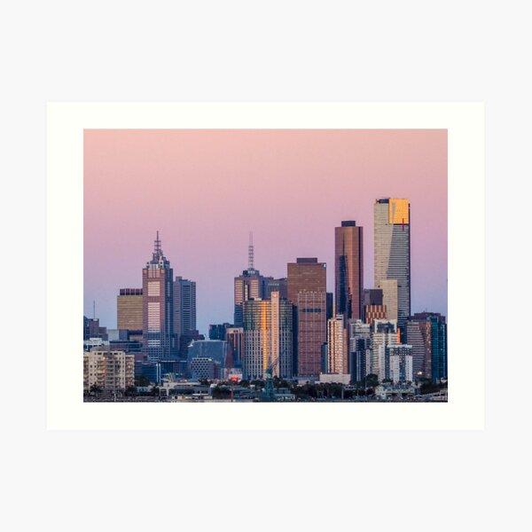MELBOURNE SKYLINE VIEWED FROM WILLIAMSTOWN Art Print