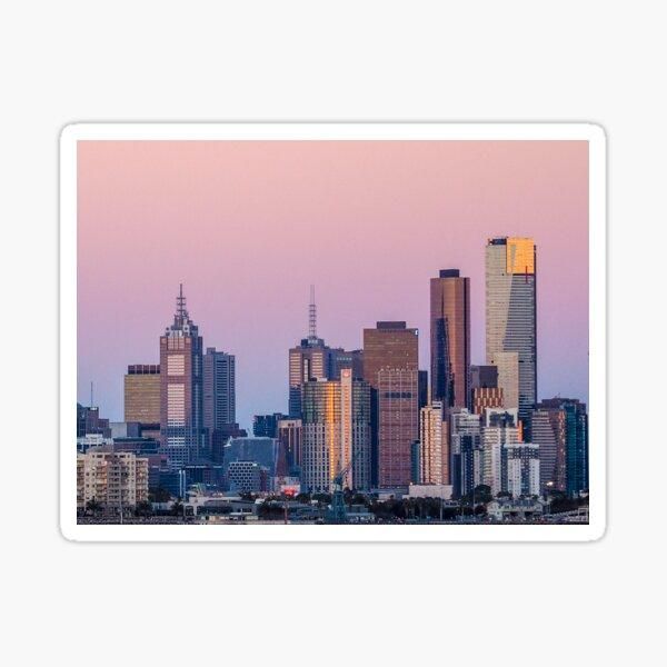 MELBOURNE SKYLINE VIEWED FROM WILLIAMSTOWN Sticker