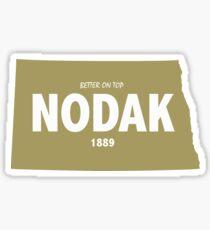 North Dakota Better on Top Funny North Dakota Gift Sticker