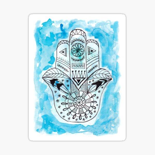 Hamsa Hand - Blue Sticker