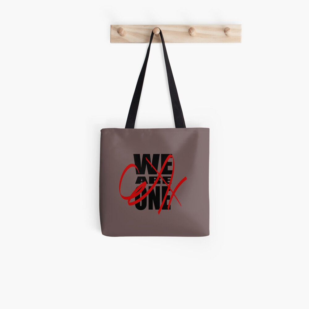 We Are One (in black) Tote Bag