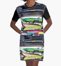 Surfboard Marathon  Graphic T-Shirt Dress