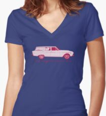 Old wagons never die Women's Fitted V-Neck T-Shirt