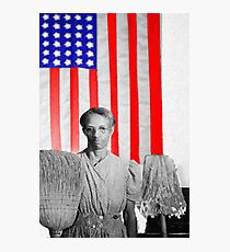 Red White Black And Blue Photographic Print