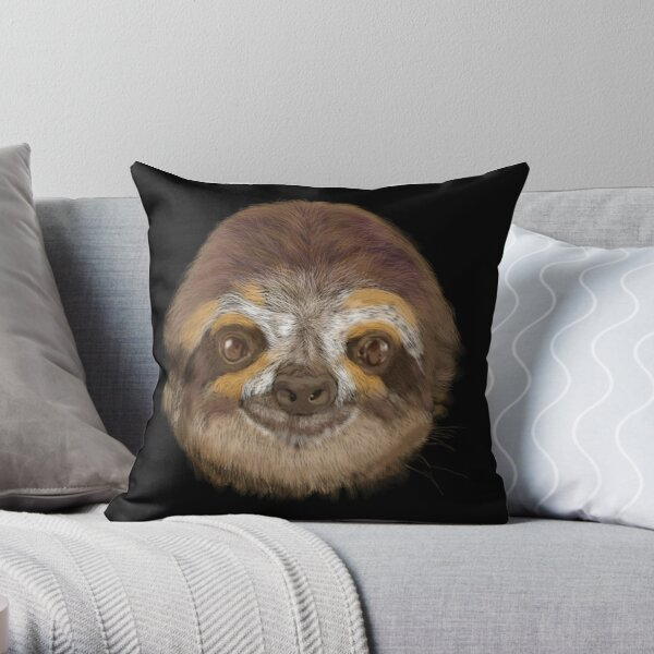 Living the Life Sloth  Throw Pillow