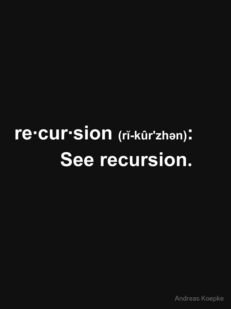 Recursion - dark tees by mistered