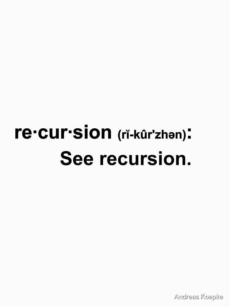 Recursion - light tees by mistered