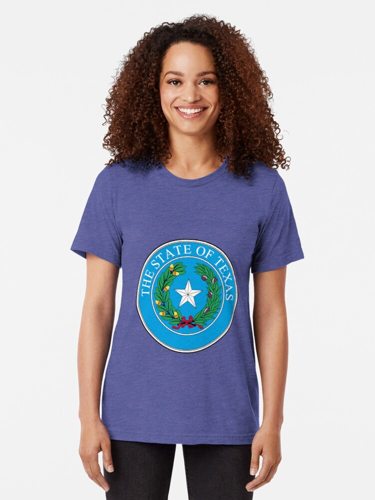 Alternate view of Seal of Texas Tri-blend T-Shirt