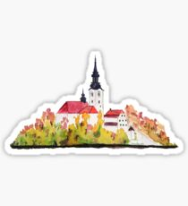 Slovenia  Bled Lake pilgrimage church dedicated to the Assumption of Mary Sticker