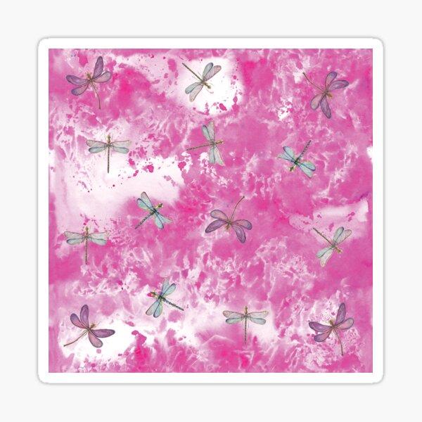 Dragonflies in pink Sticker