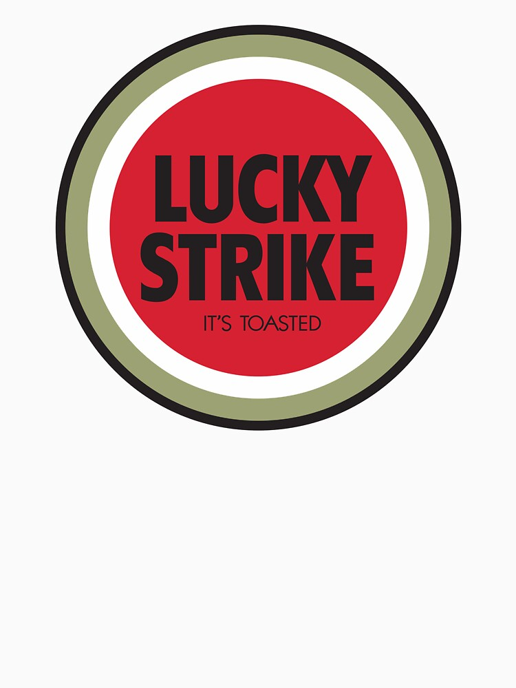 lucky strike cigarette logo classic t shirt by leakylake redbubble