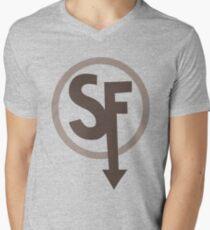 Sally Face Sanity's Fall Larry T-shirt Men's V-Neck T-Shirt